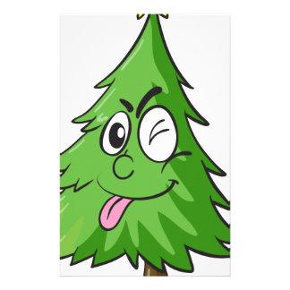 christmas tree stationery