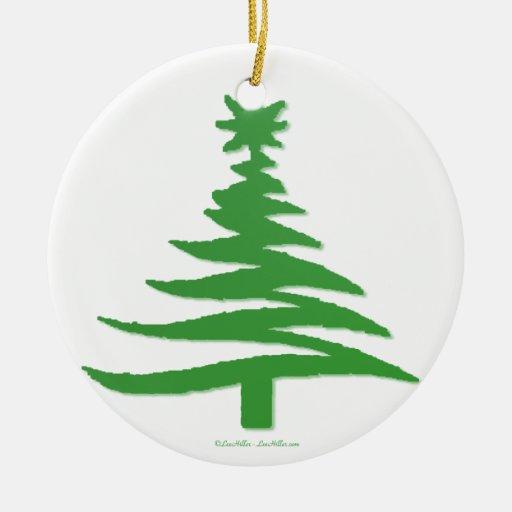Christmas Tree Stencil Green Christmas Ornament