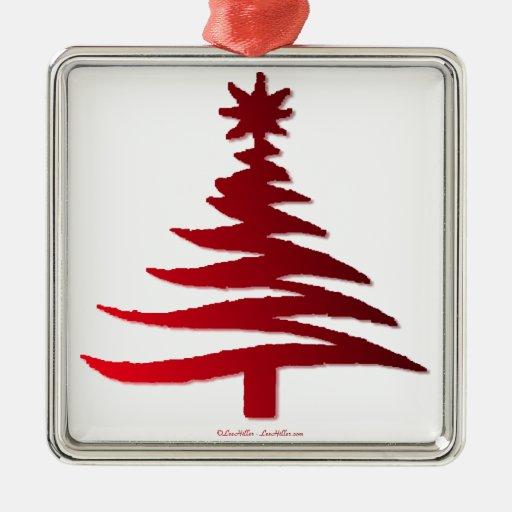 Christmas Tree Stencil Red Christmas Ornaments