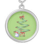Christmas Tree Sterling Silver Chain Pendants