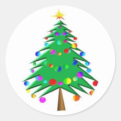 Christmas Tree Sticker Zazzle
