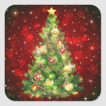"Christmas Tree Stickers<br><div class=""desc"">Holiday sticker shown with a festive Christmas tree print.  Customize or buy as is.</div>"