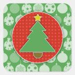 Christmas Tree Stickers (Square)