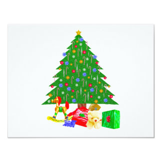 Christmas Tree T-Shirts & Gifts 4.25x5.5 Paper Invitation Card