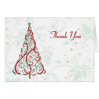 Christmas Tree Thank You Card