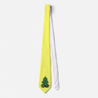 Christmas Tree Tie--Customize Background Color! Neck Tie