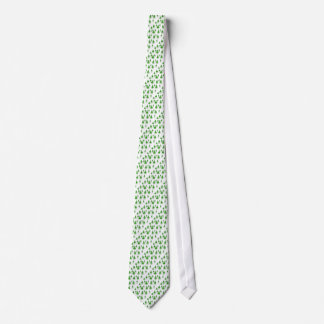Christmas Tree Tie - Green and White