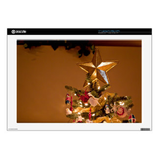 """Christmas Tree Topper Decals For 17"""" Laptops"""
