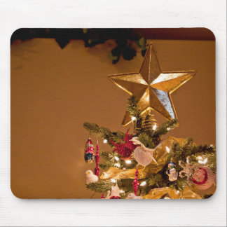 Christmas Tree Topper Mouse Pad
