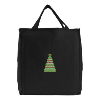 Christmas Tree tote Embroidered Tote Bags