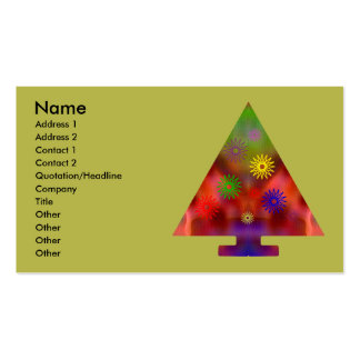 Christmas Tree - Triangle decorated Business Card