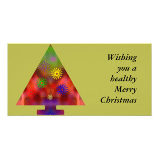 Christmas Tree - Triangle decorated Card