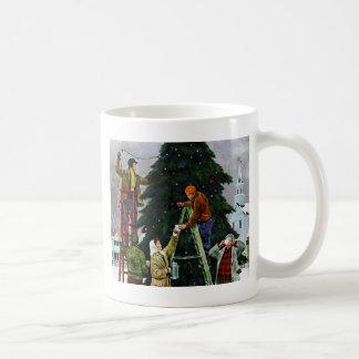 Christmas Tree Trimming Coffee Mug
