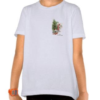 Christmas tree trimming tee shirt