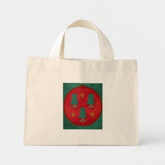 Christmas Tree Trinity Mini Tote Bag
