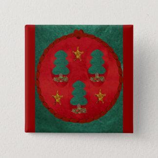 Christmas Tree Trinity Pinback Button