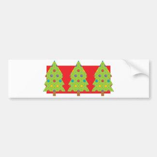 Christmas Tree Trio Bumper Sticker