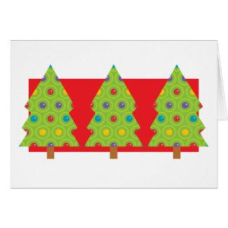 Christmas Tree Trio Greeting Card