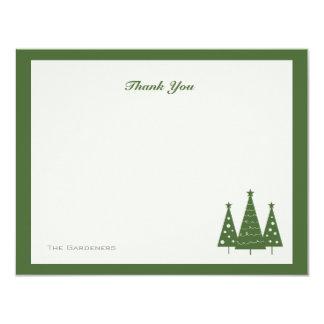 Christmas Tree Trio   Flat Thank You Cards