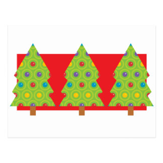 Christmas Tree Trio Postcard