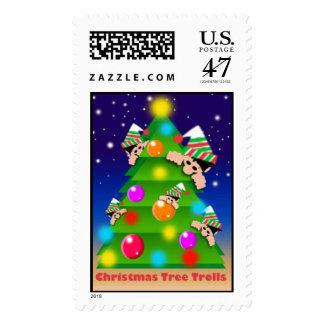 CHRISTMAS TREE TROLLS POSTAGE