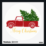 """Christmas tree truck Circle Wall Decal<br><div class=""""desc"""">This Wall Decal featuring a Christmas tree truck design.</div>"""