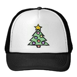 christmas tree trucker hat
