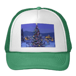 Christmas Tree Trucker Hats