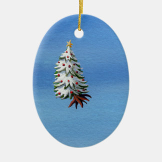 Christmas tree uprooted flying off holiday travel christmas ornaments