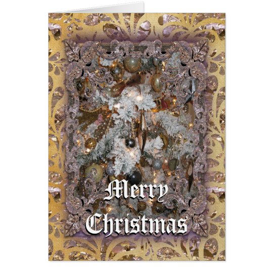 Christmas Tree Victorian Card