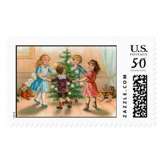 Christmas Tree Vintage Christmas Stamps