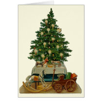 """Christmas Tree"" Vintage Greeting Card"