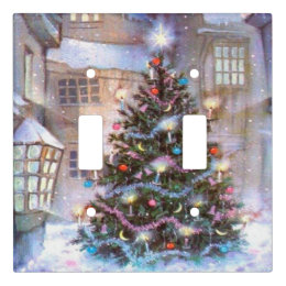 christmas tree vintage light switch cover