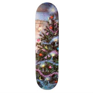 Christmas Tree Vintage Skateboard