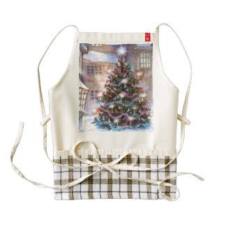 Christmas Tree Vintage Zazzle HEART Apron