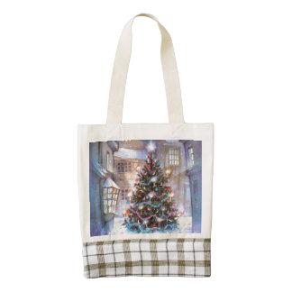 Christmas Tree Vintage Zazzle HEART Tote Bag