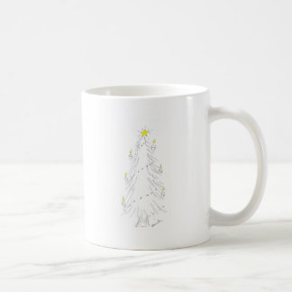 Christmas tree with candles coffee mug