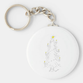 Christmas tree with candles keychain