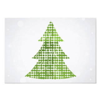 Christmas tree with colorful decoration 5x7 paper invitation card