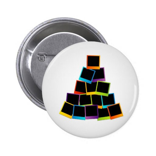 Christmas tree with colorful polaroids pins
