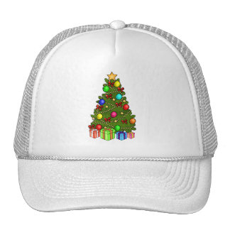 Christmas Tree with Decorations Mesh Hat