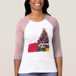 Christmas tree with gifts t shirts