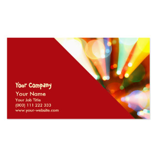 Christmas tree with light beams business cards