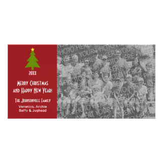 Christmas Tree with one large photo Card