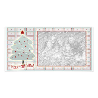 Christmas tree with pattern Photo Card