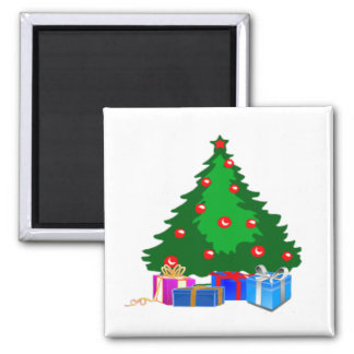 Christmas Tree with Presents Magnet