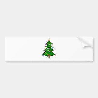 Christmas Tree with Rasta Garland Bumper Stickers