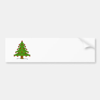 Christmas Tree with Red Ornaments Bumper Stickers