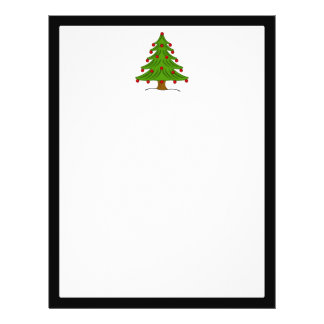 Christmas Tree with Red Ornaments Full Color Flyer