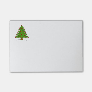 Christmas Tree with Red Ornaments Post-it® Notes